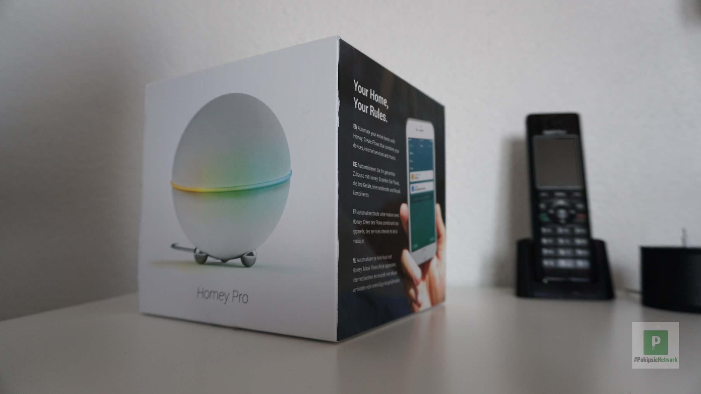 Die Verpackung vom neuen Smart Home Hub