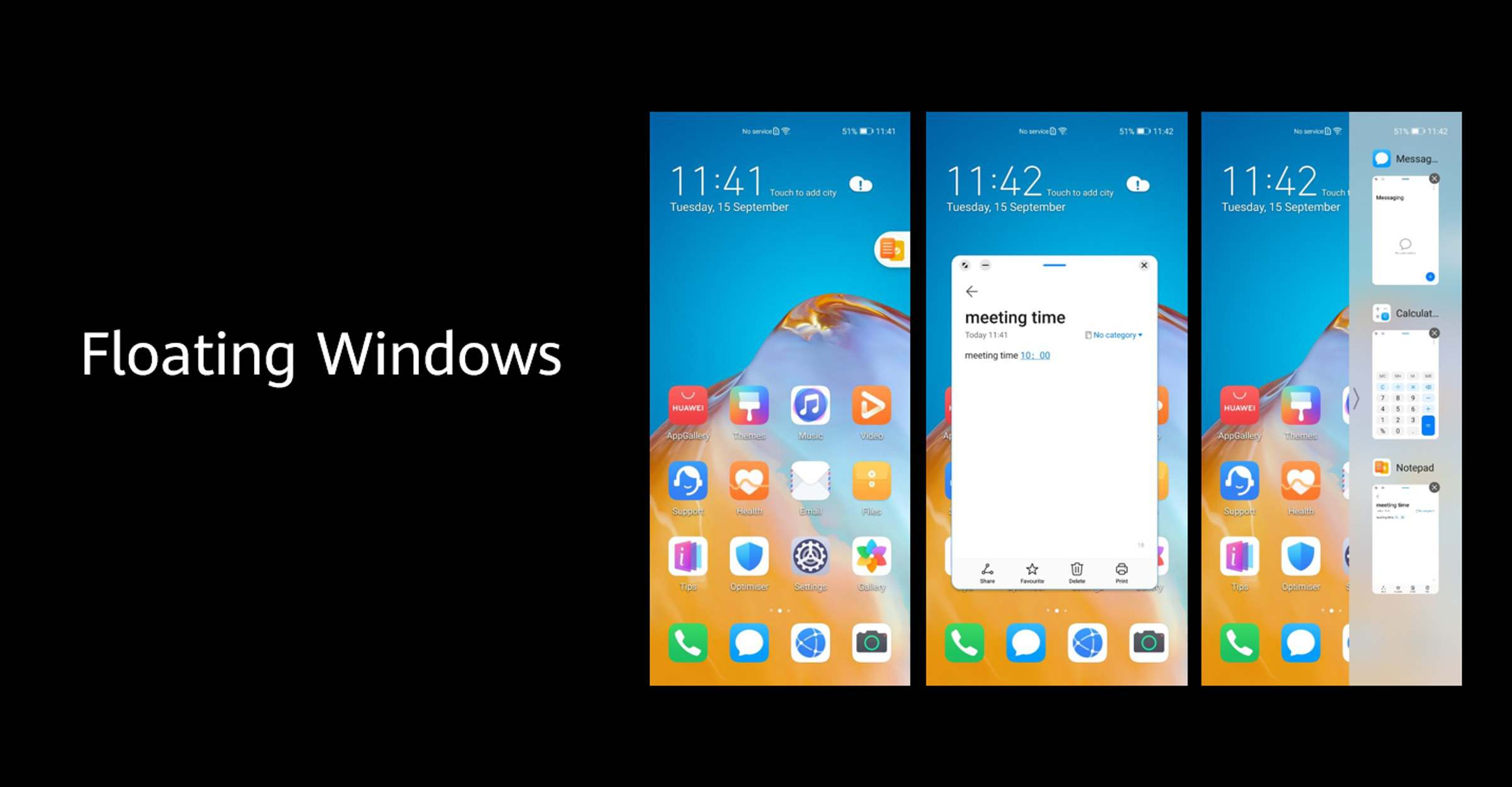 Floating Apps - Android 11 und EMUI 11 Update