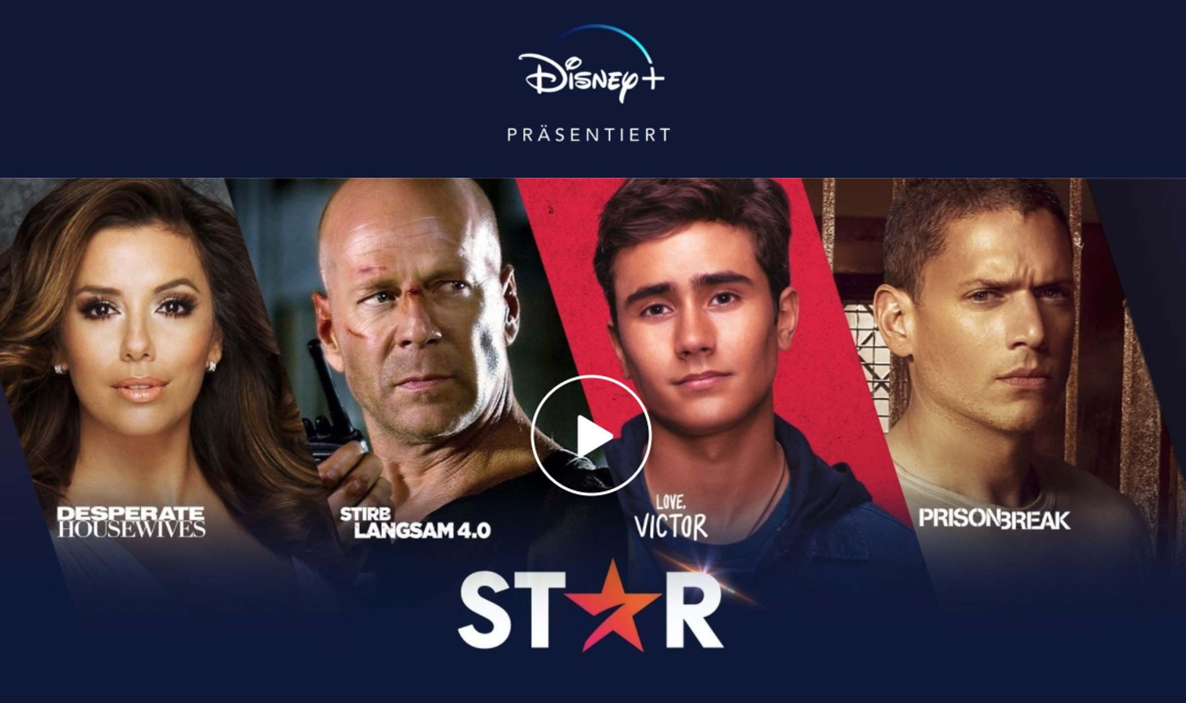 Mit Star rollt Disney+ das Streaming Angebot in der Schweiz neu auf