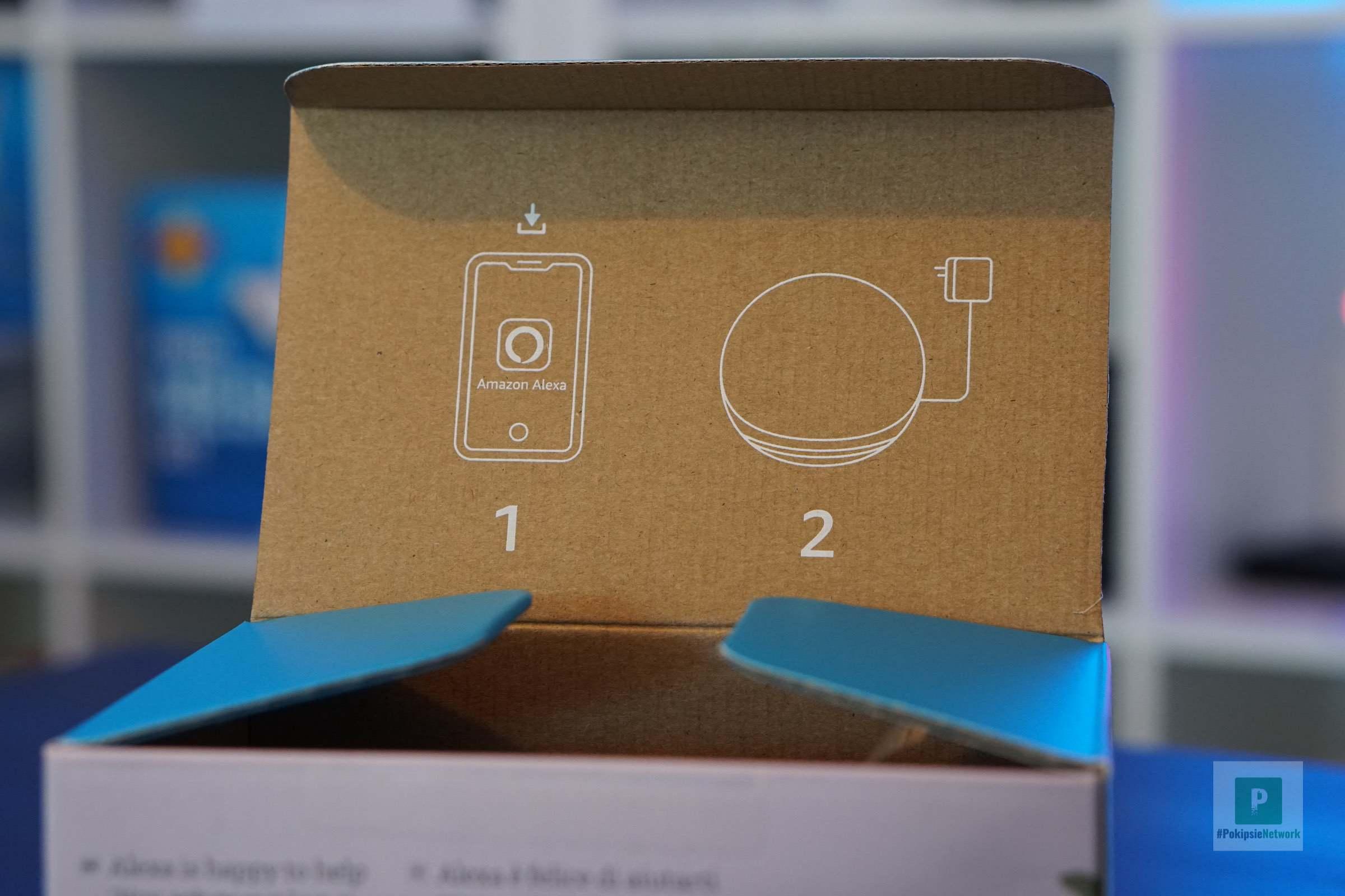 Kurzanleitung am Deckel der Verpackung