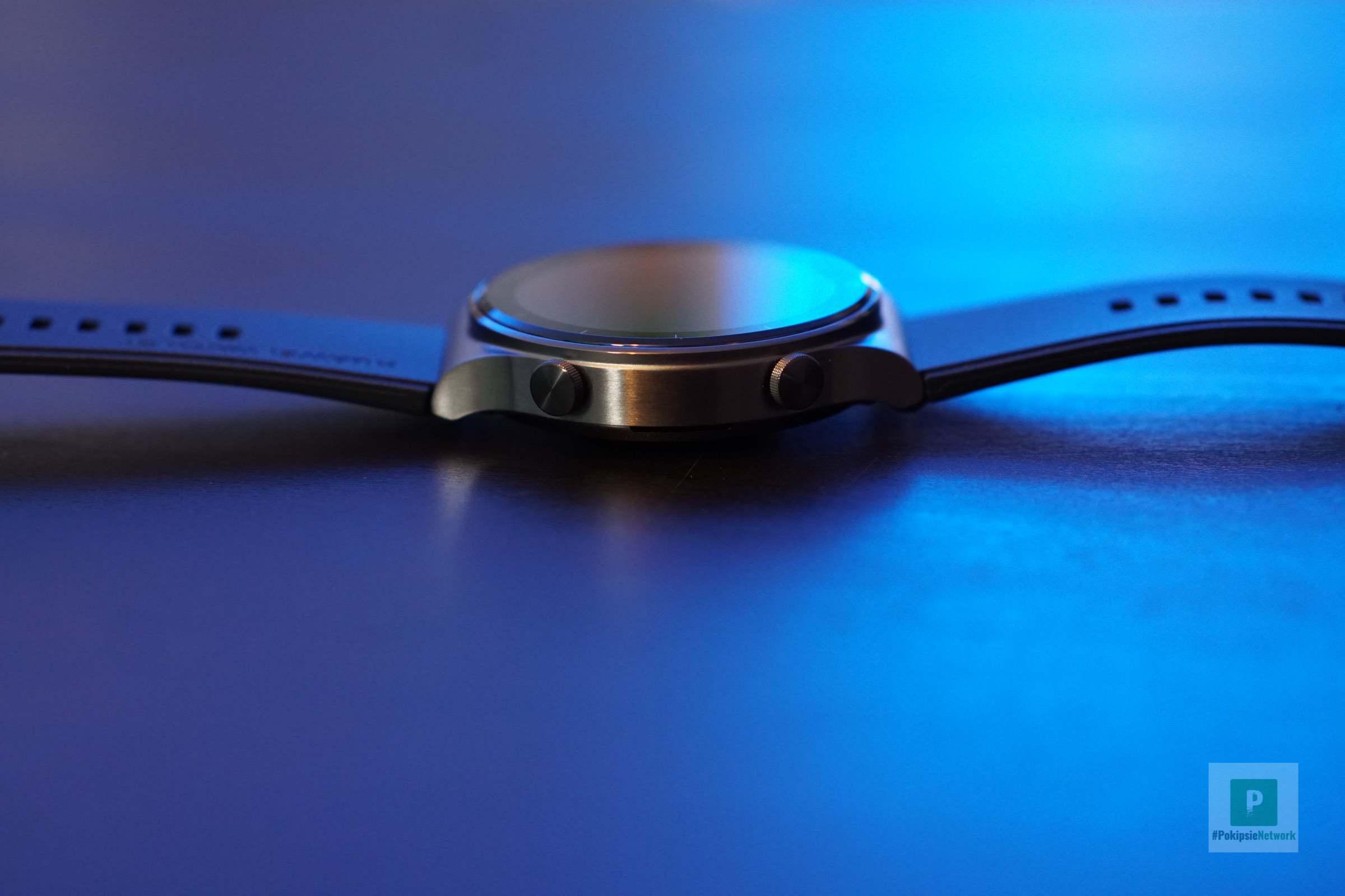 Seitliche Ansicht der Smartwatch