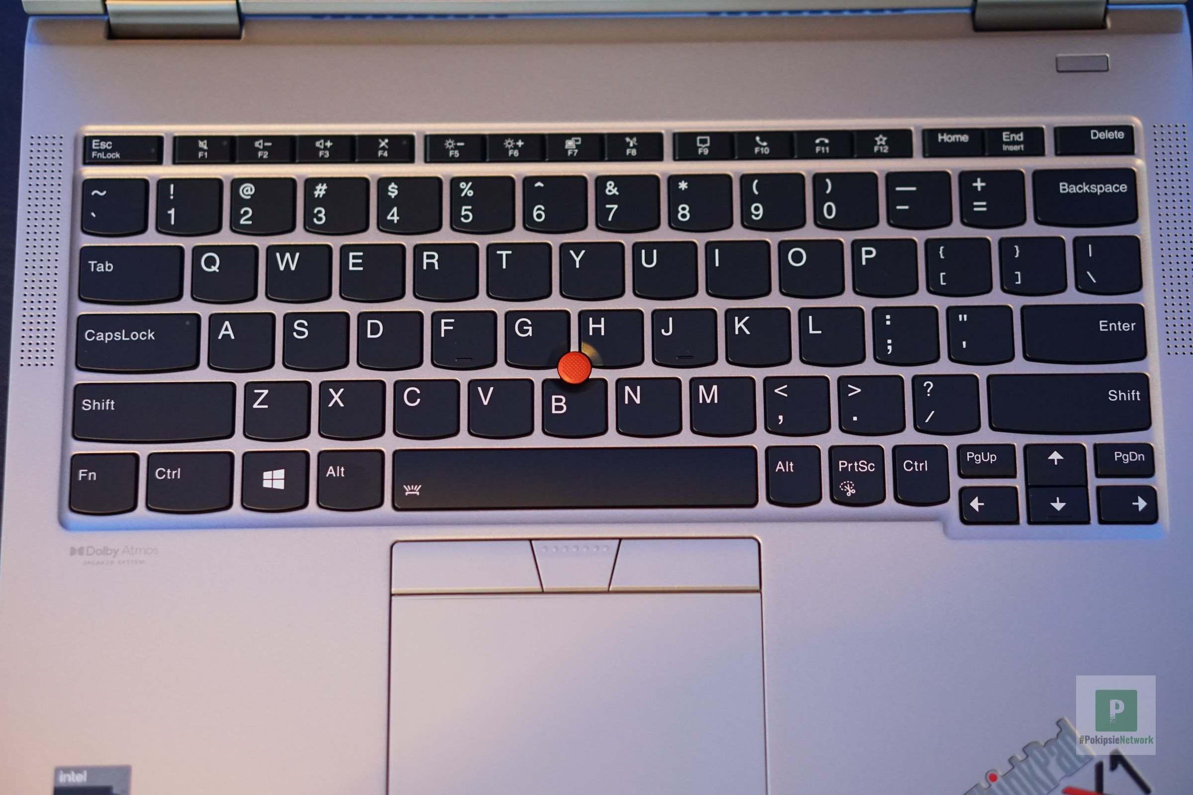 Die Tastatur vom X1 Titanium