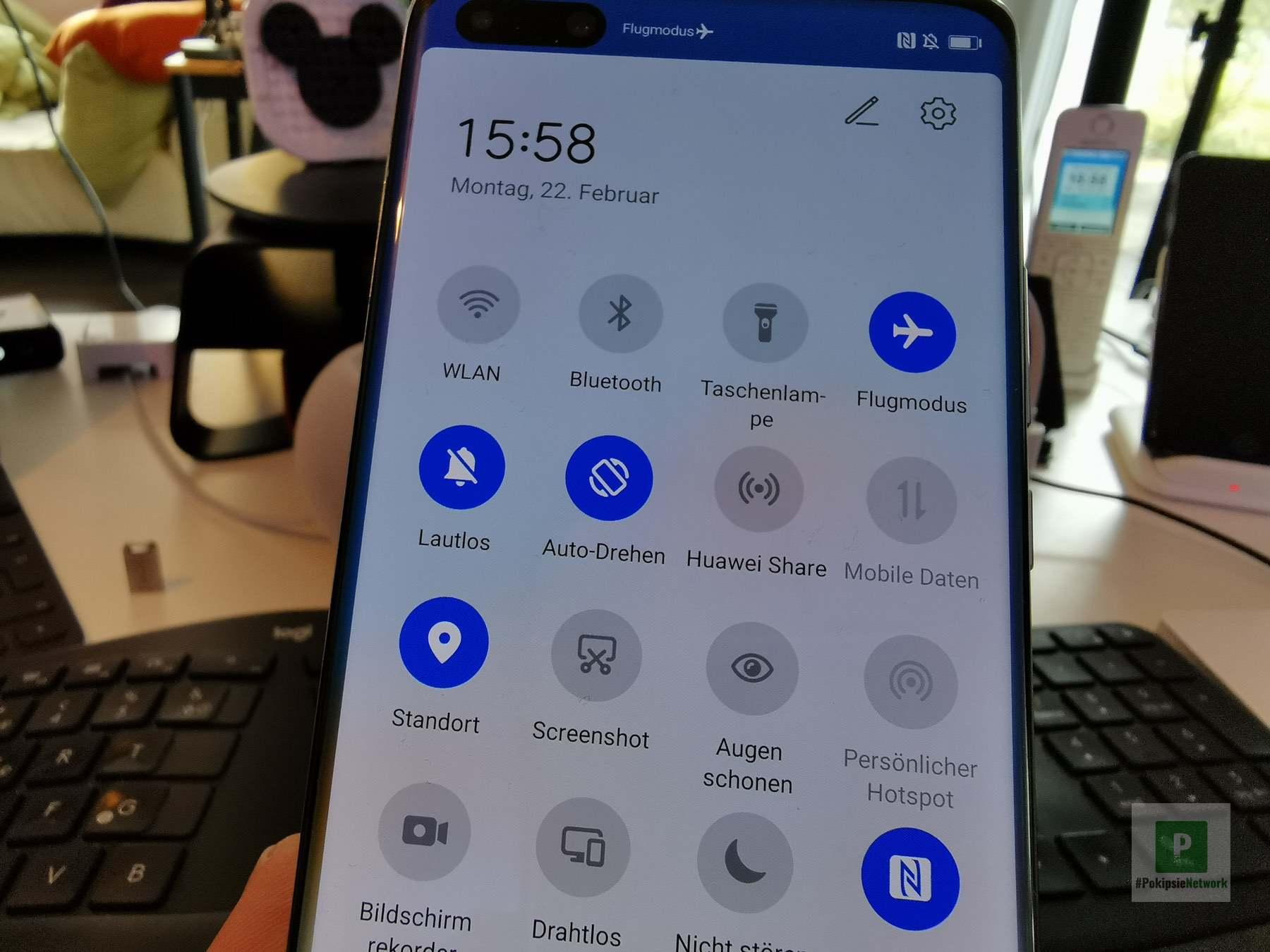 Huawei Share Knopf