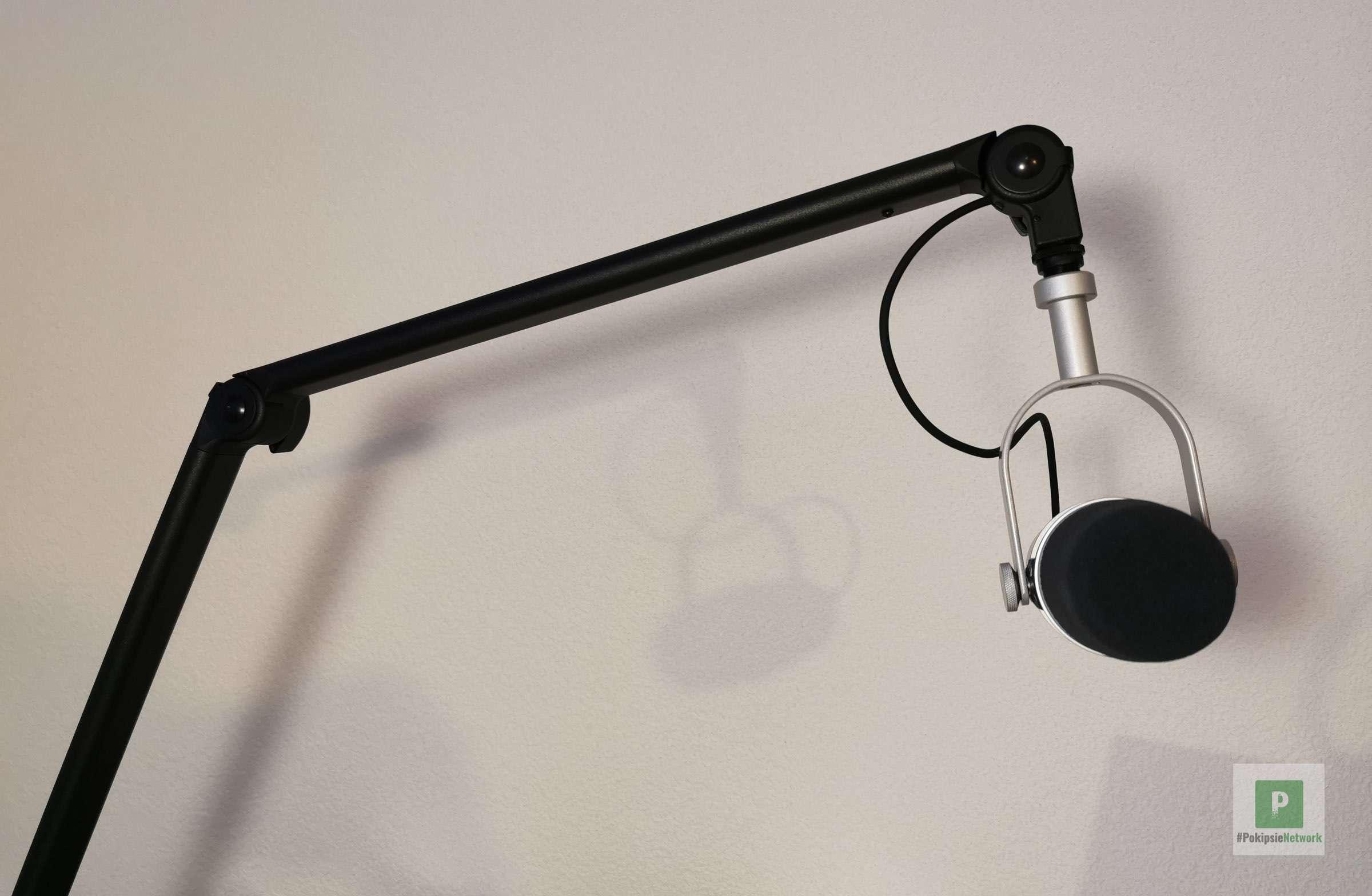 Der Mikrofonarm im Einsatz