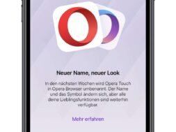 Opera Touch wir zu Opera