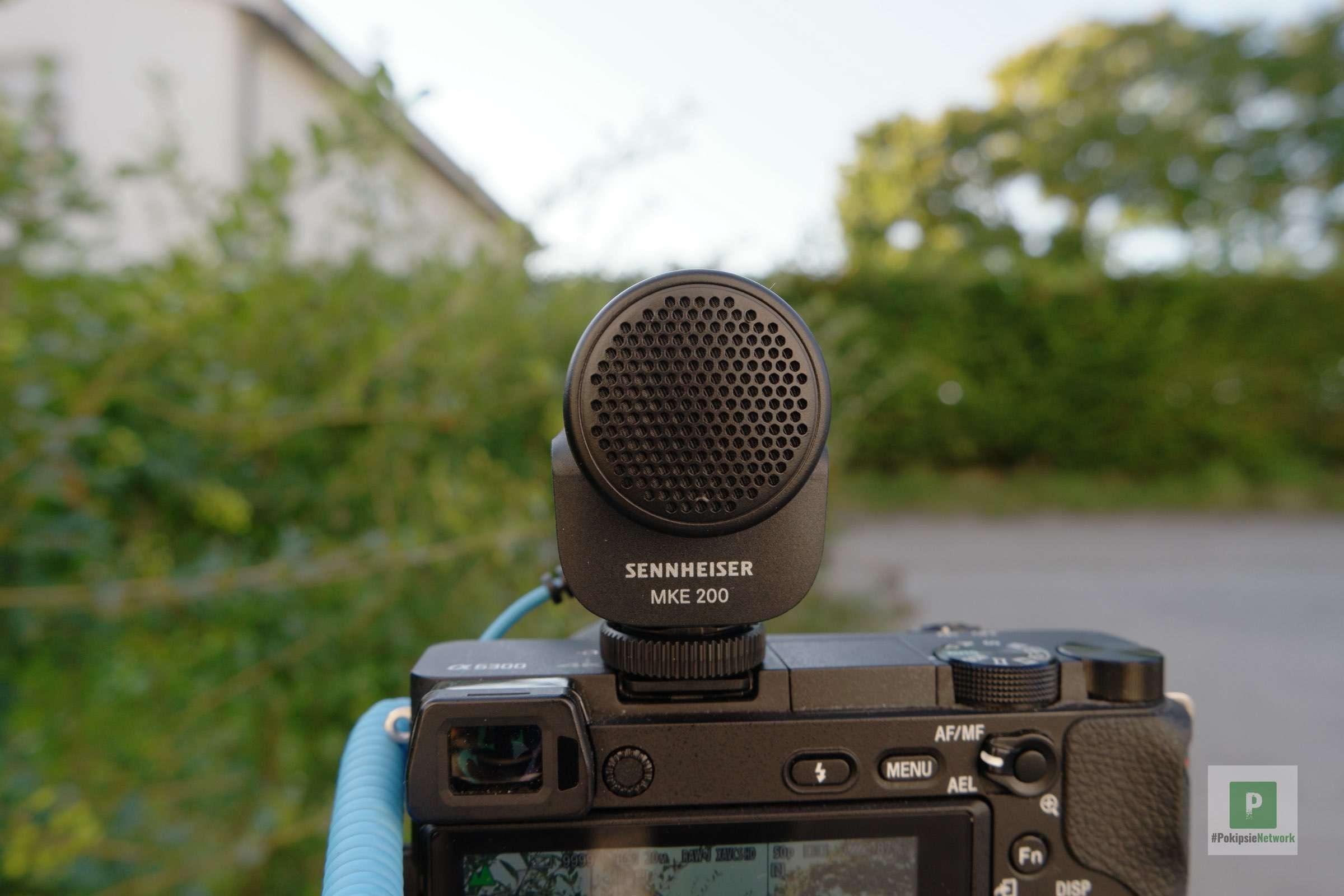 Mikrofon von hinten