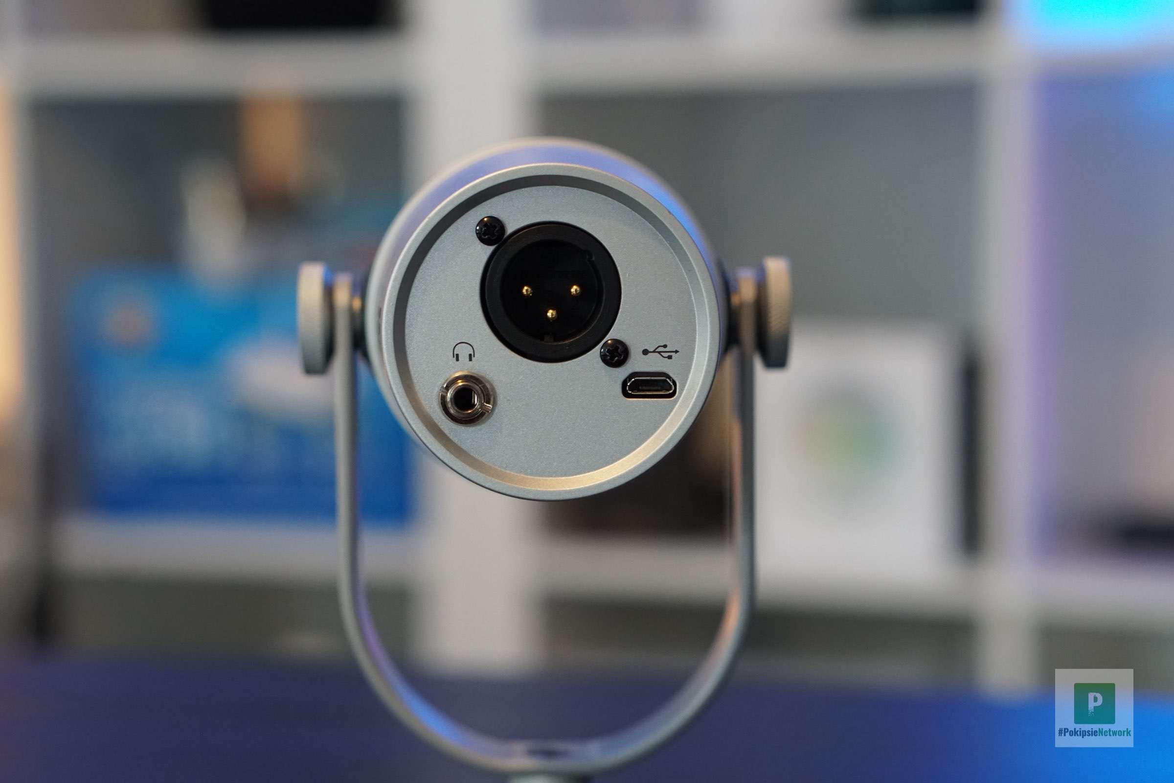 3.5 mm Klinkenport, XLR und microUSB-Anschluss
