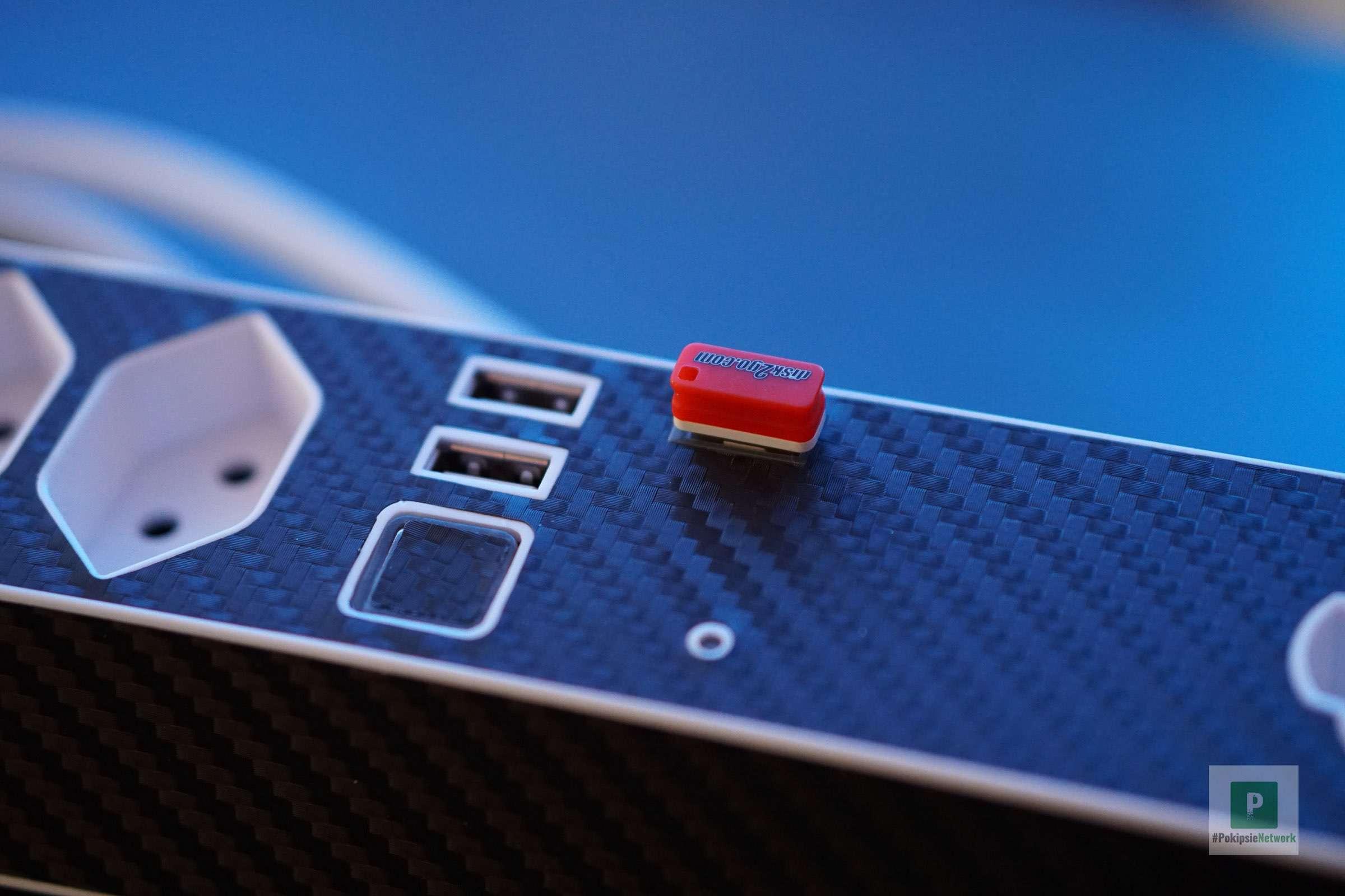 Der integrierte USB-Hub