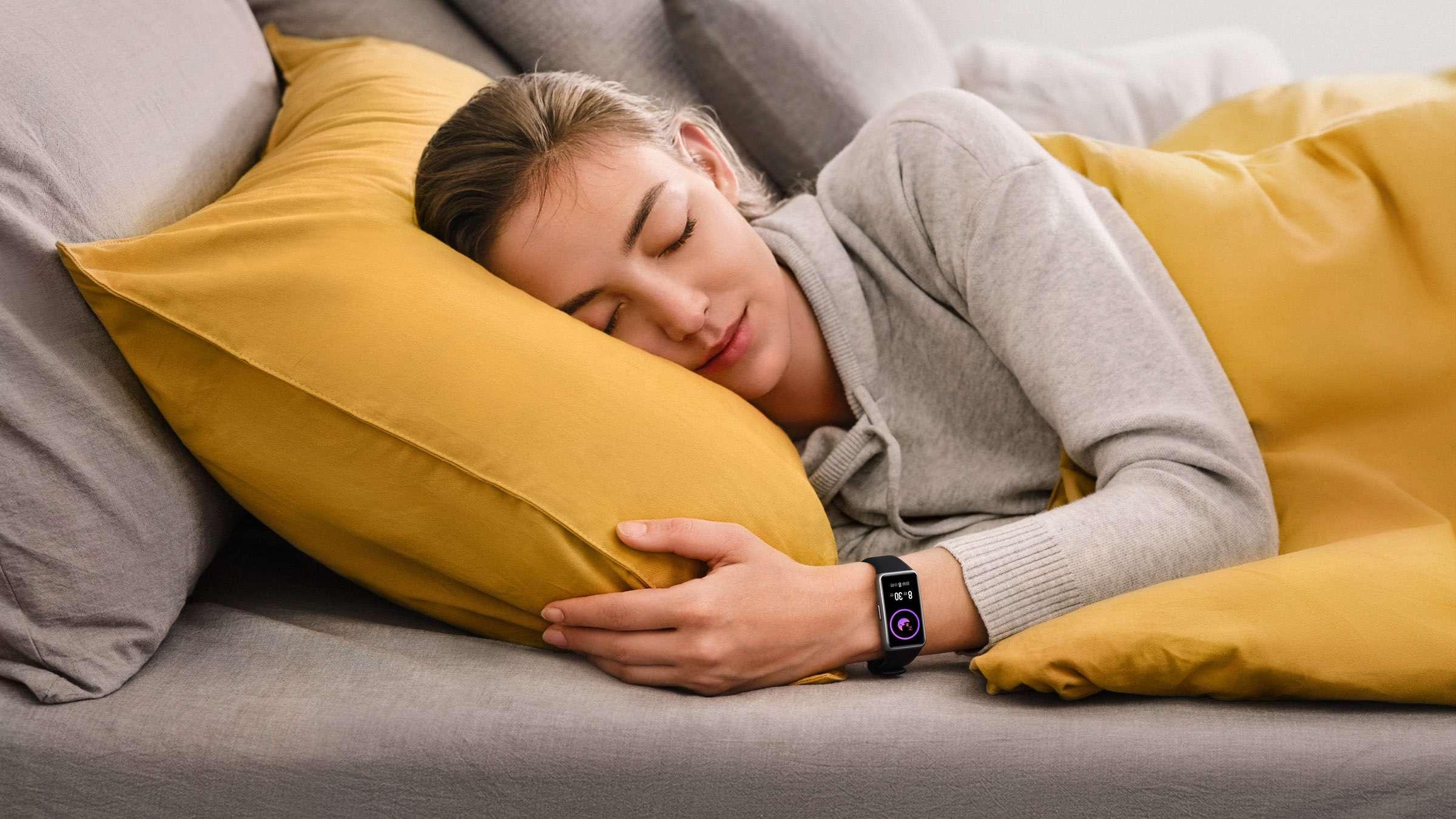 Huawei - Band 6 beim Schlafen