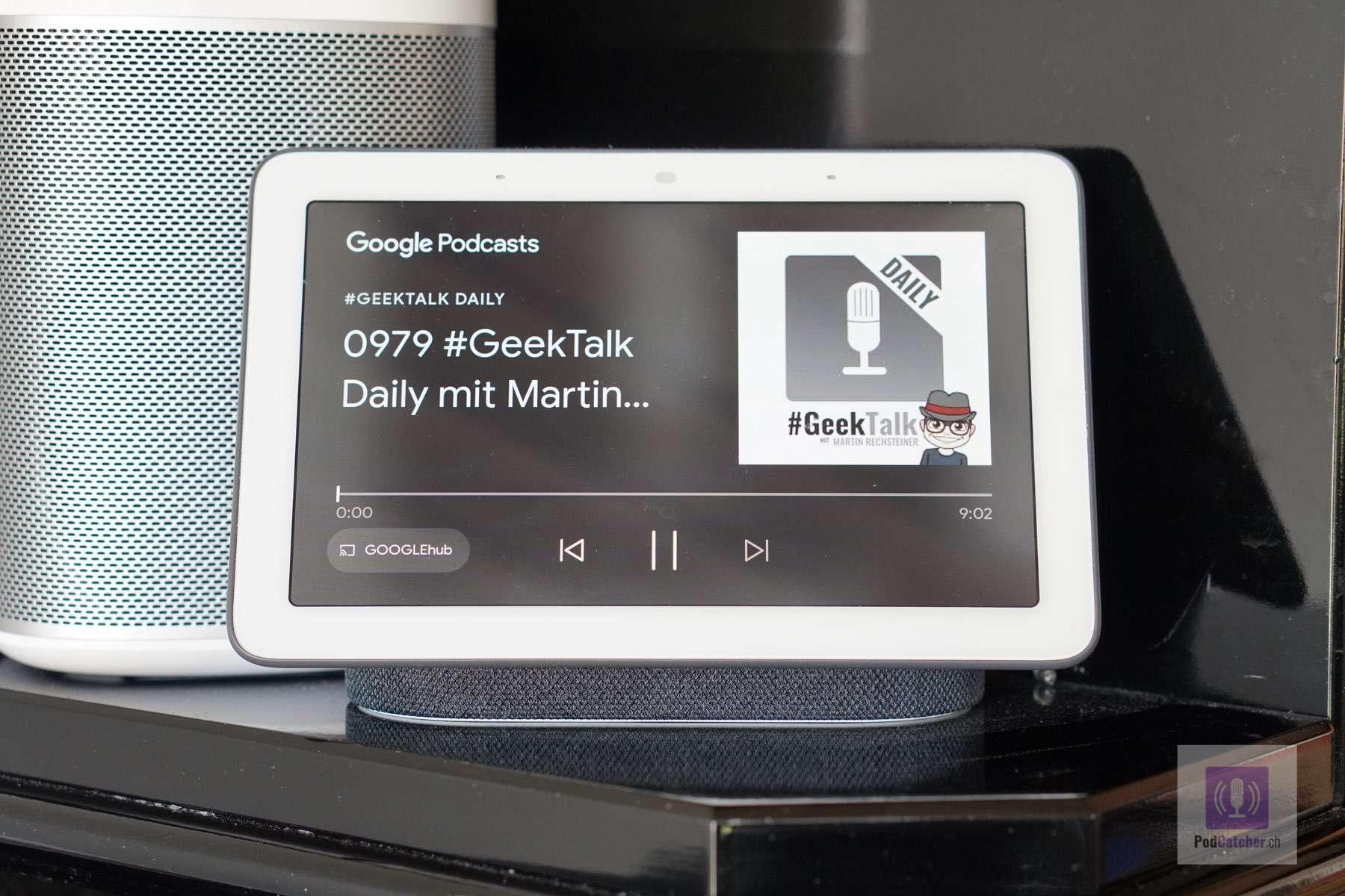 Podcasts hören am Google Nest Hub - Die Sprachbefehle