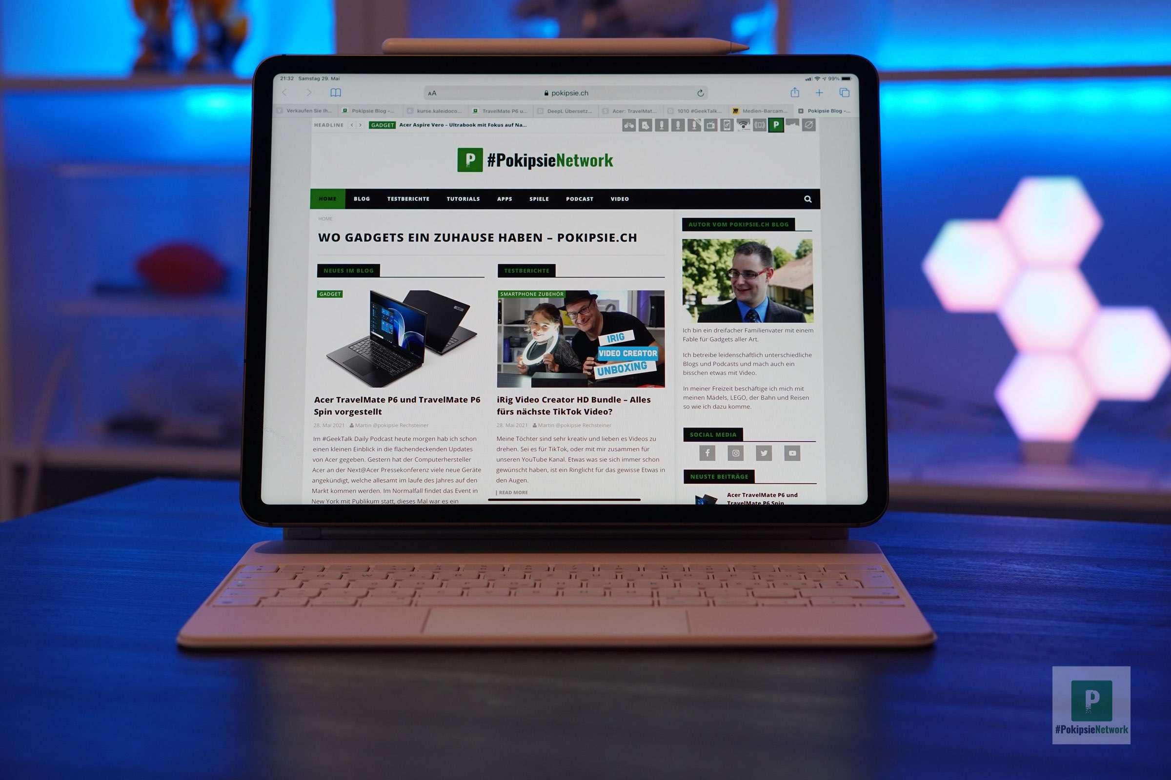 Das neue iPad im Magic Keyboard