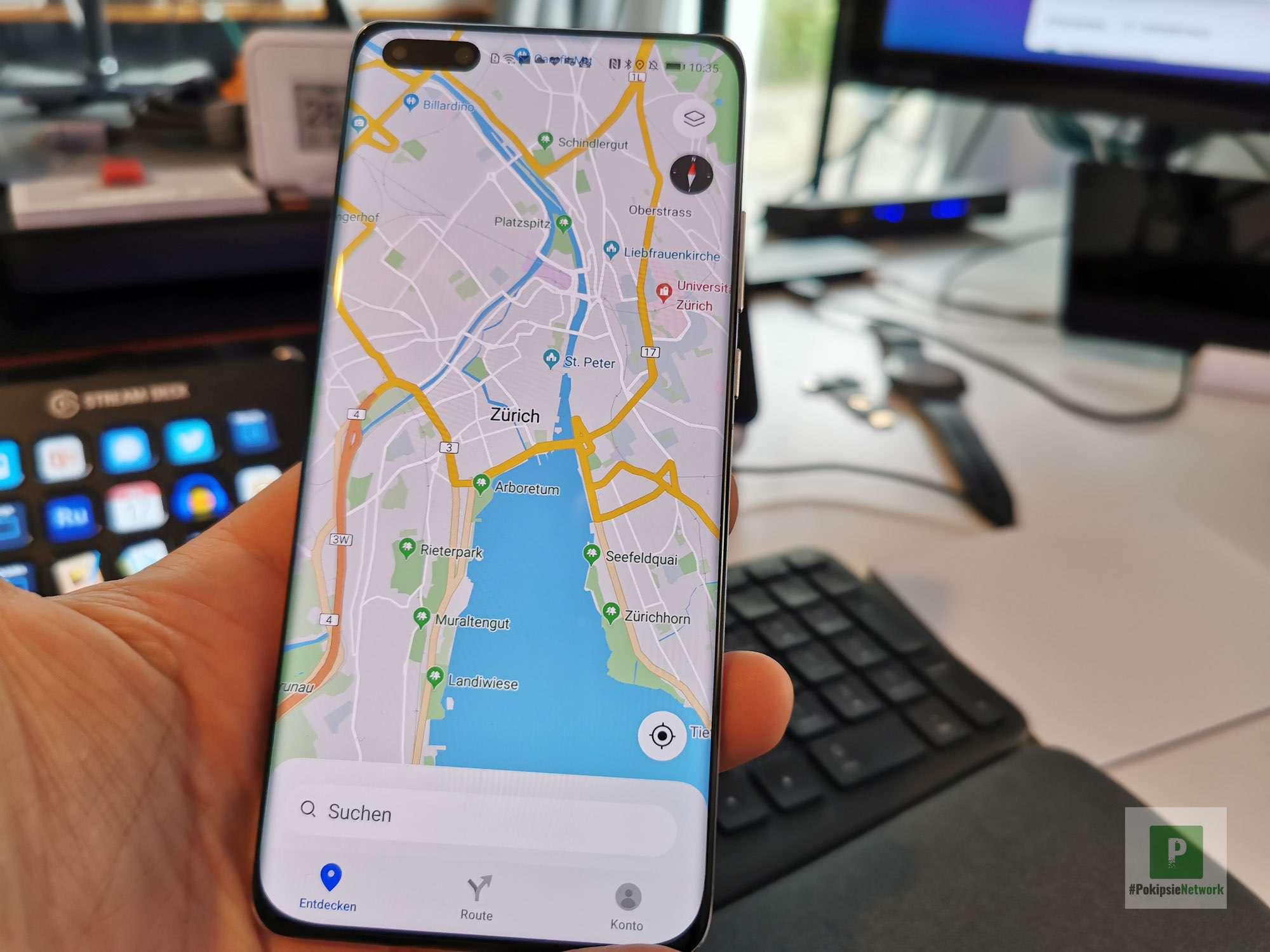 Huawei - Petal Maps - in der Stadt