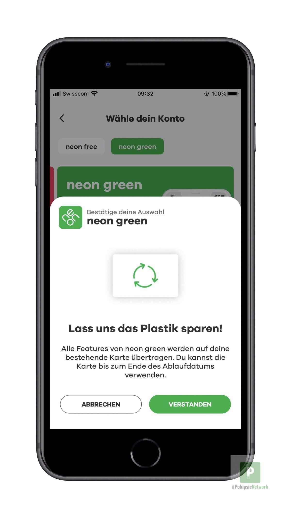 neon green - Karte bestellen