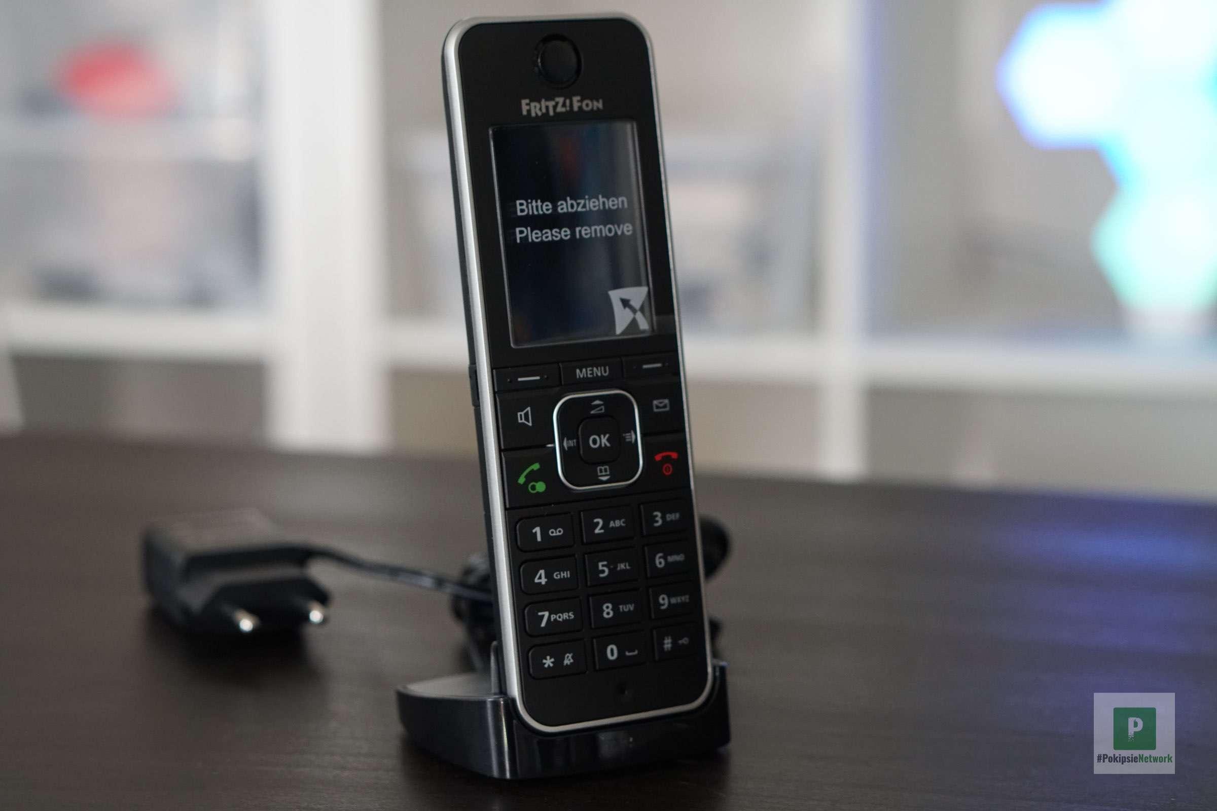 Die Vorderseite des Telefons