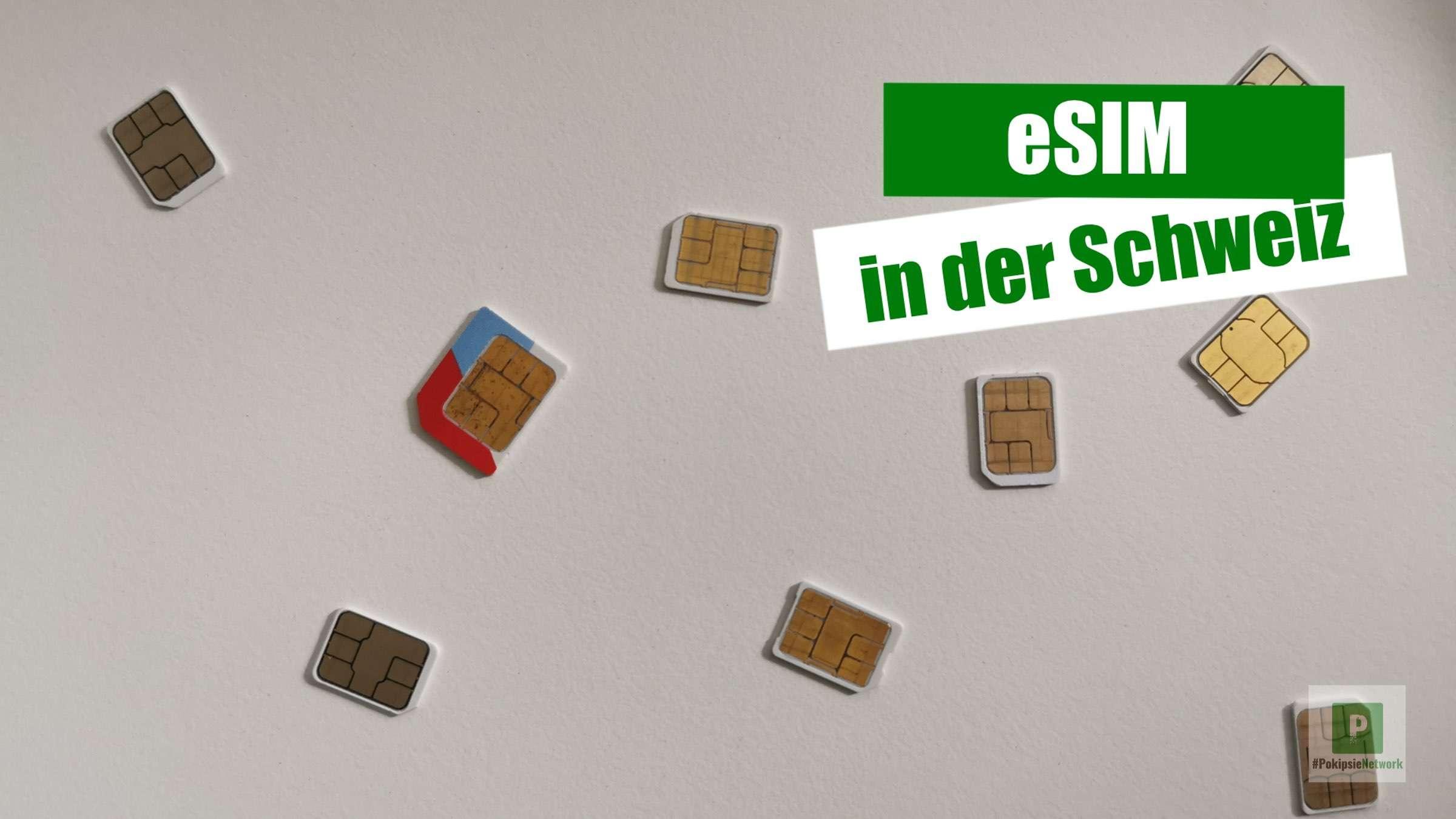 eSIM in der Schweiz – Sunrise, Swisscom, Salt und co.