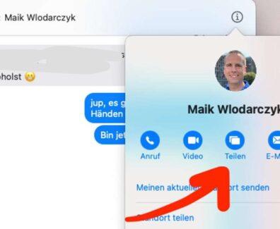 macOS Bildschirm via iMessage teilen