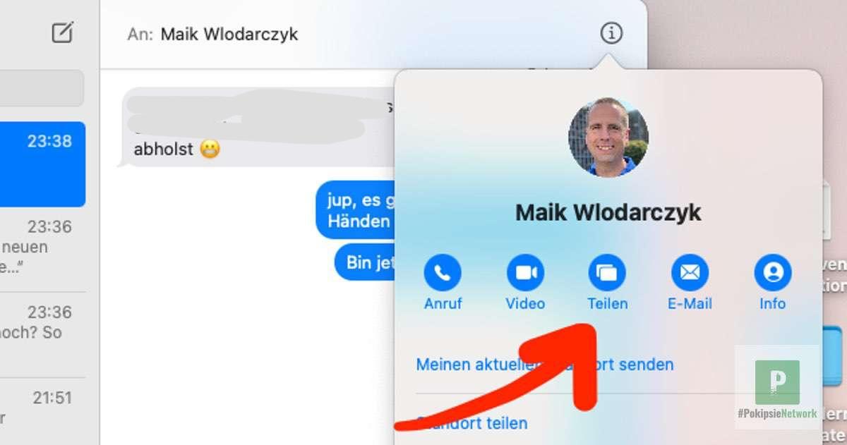 Tutorial – macOS Bildschirm via iMessage teilen