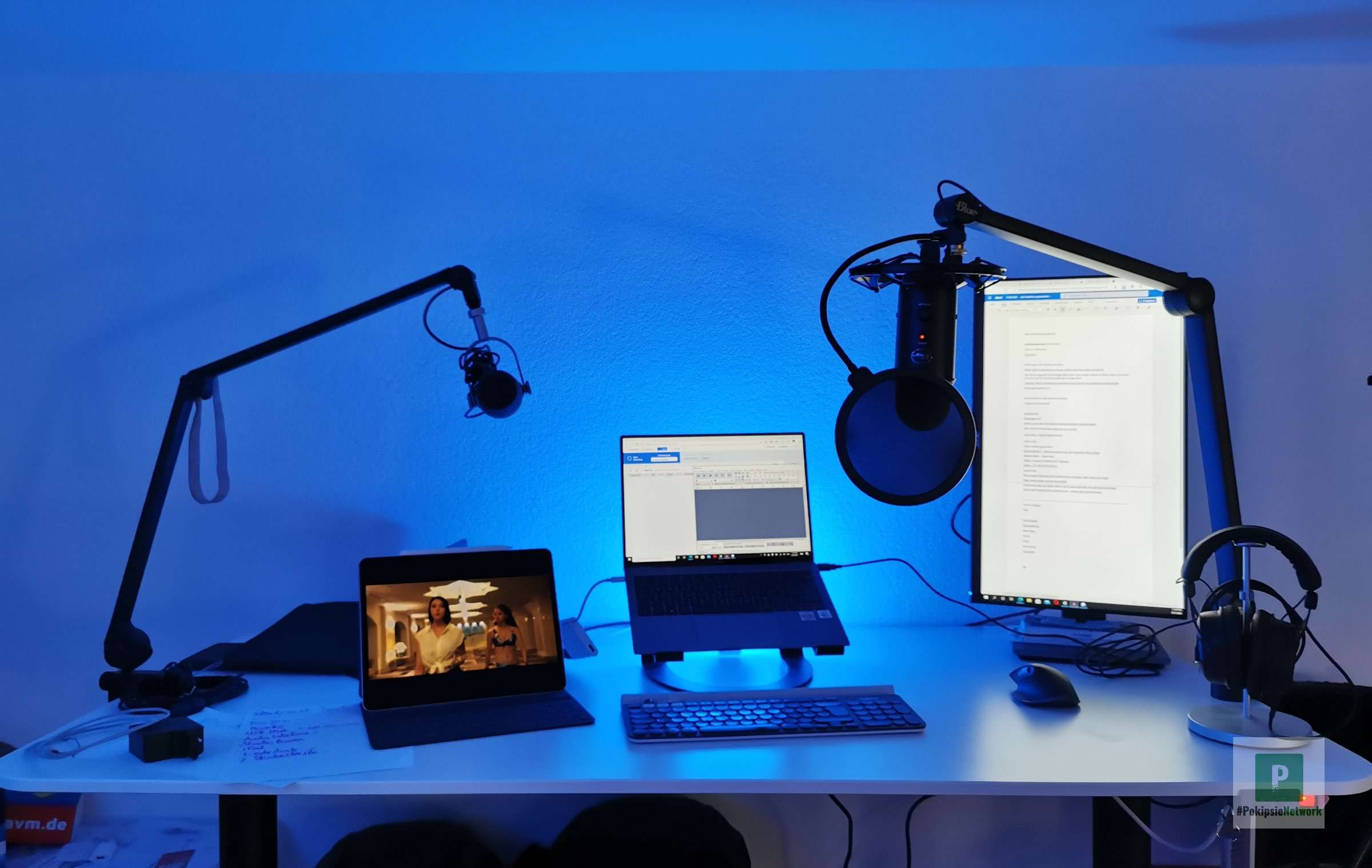 Mein aktueller Podcast Schreibtisch