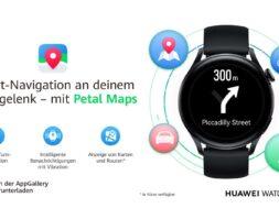 Petal Maps auf der Huawei Watch 3