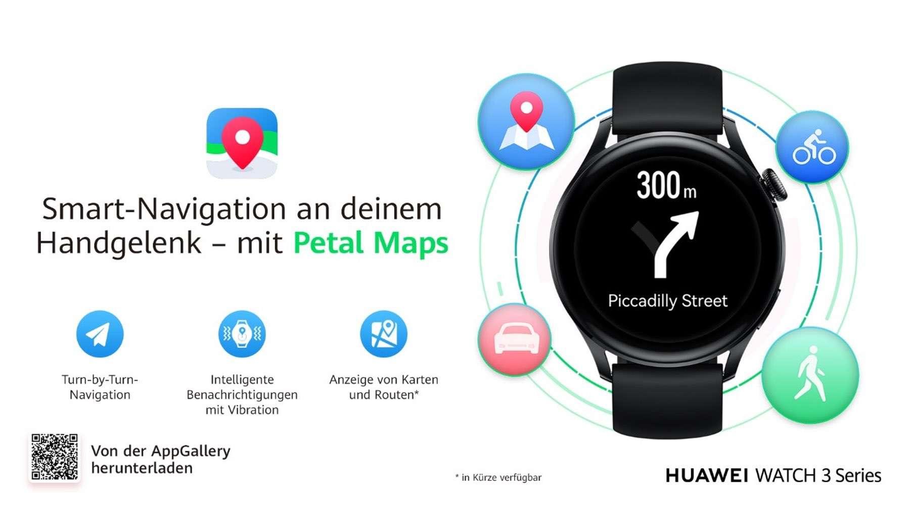 Petal Maps auf der Huawei Watch 3 verfügbar