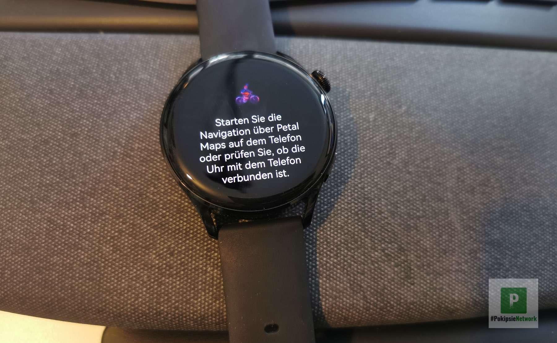 Petal Maps auf der Smartwatch