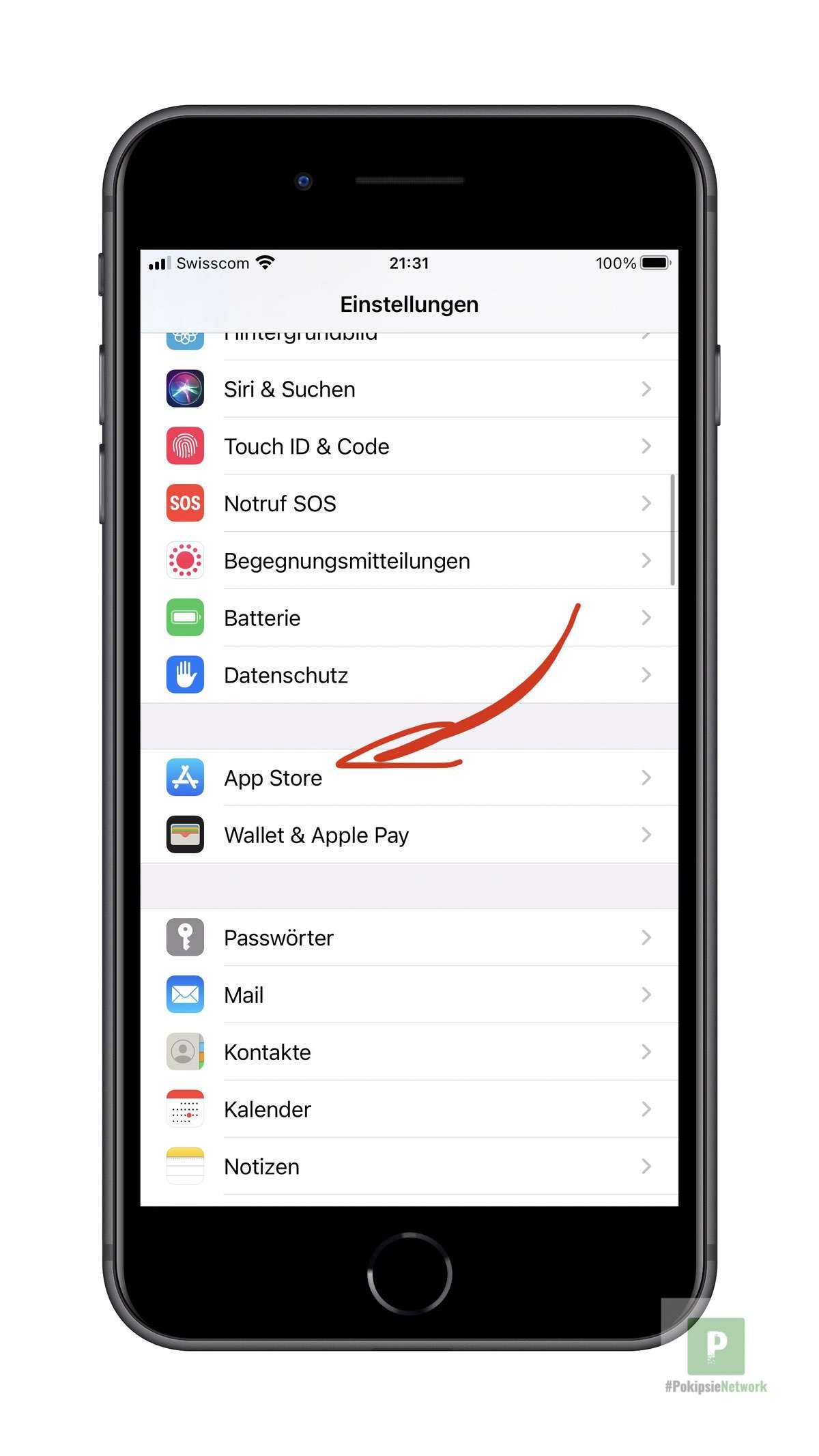 App Store - Einstellungen