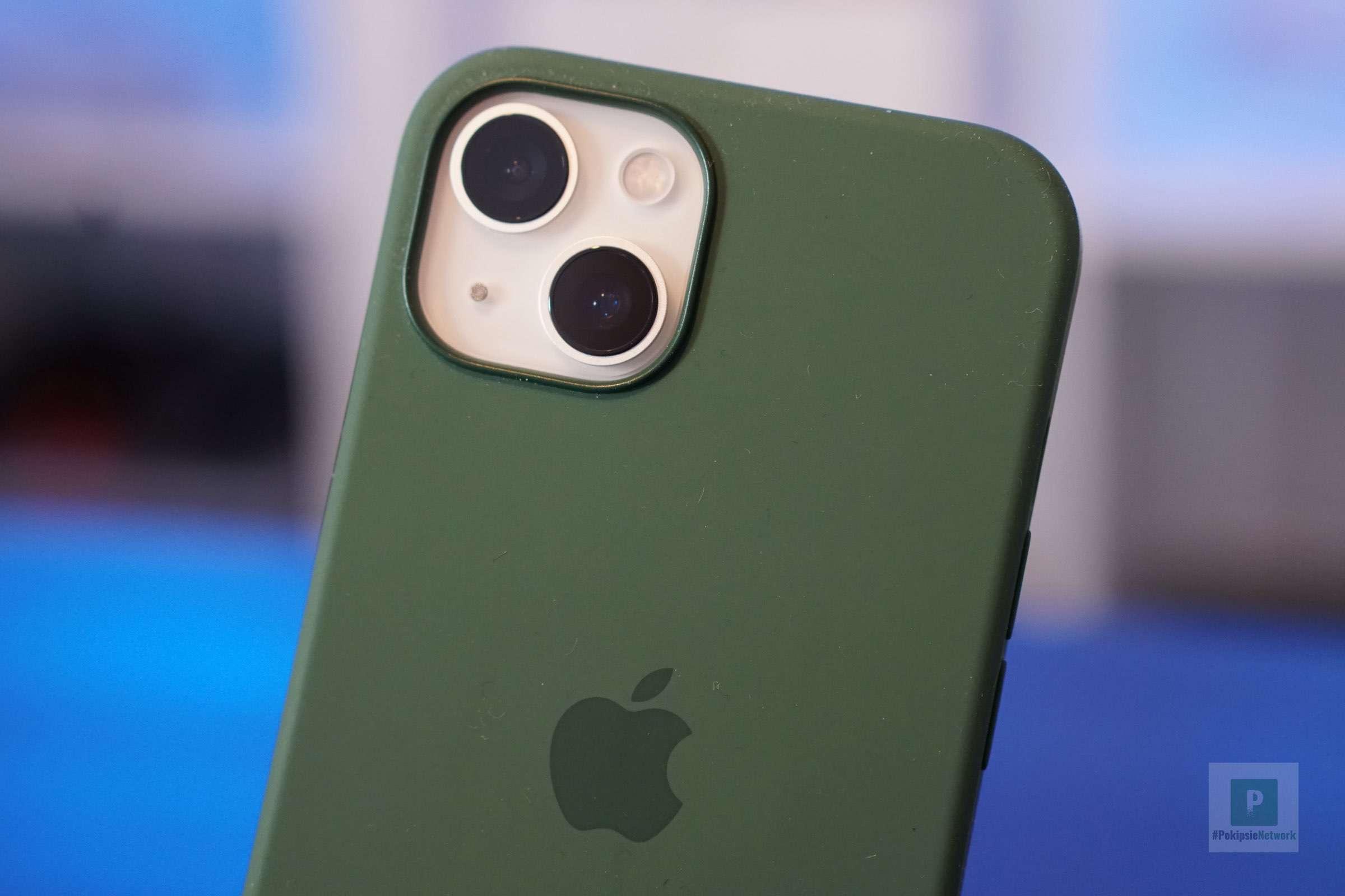 Die iPhone Rückseite mit Hülle