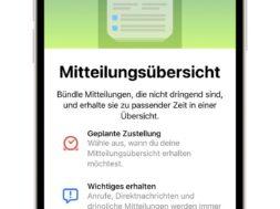 iOS 15 – Die Mitteilungsübersicht