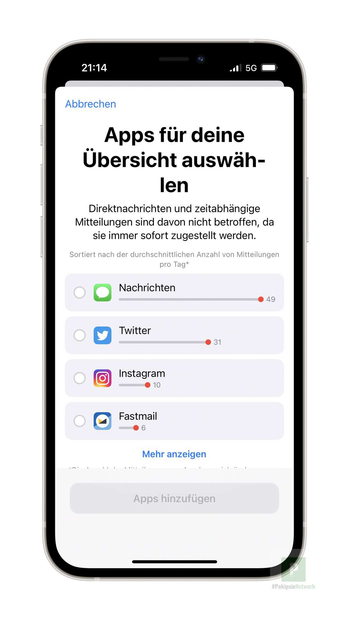 Apps auswählen
