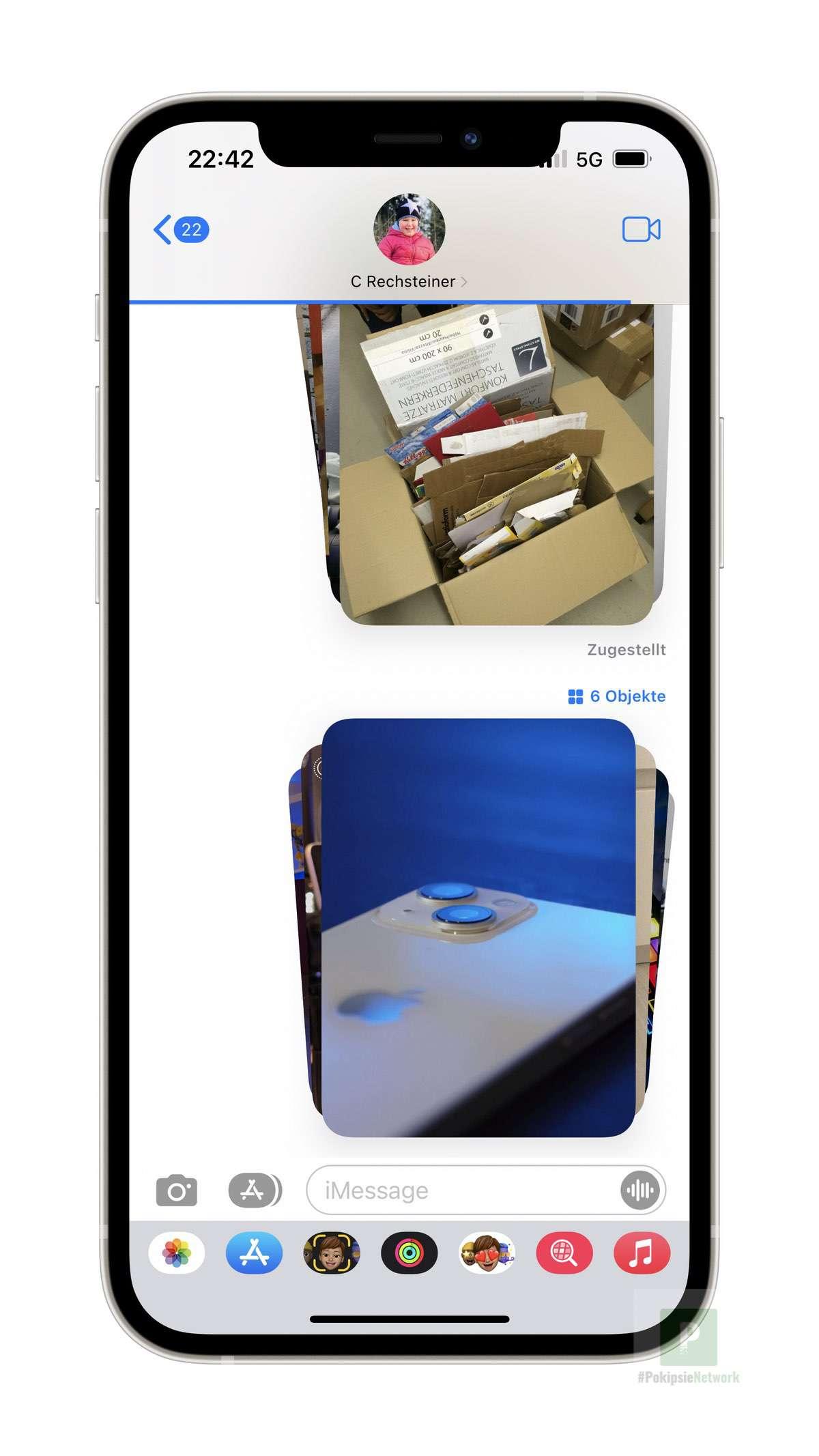 iOS 15 - Mehrere Bilder in iMessage