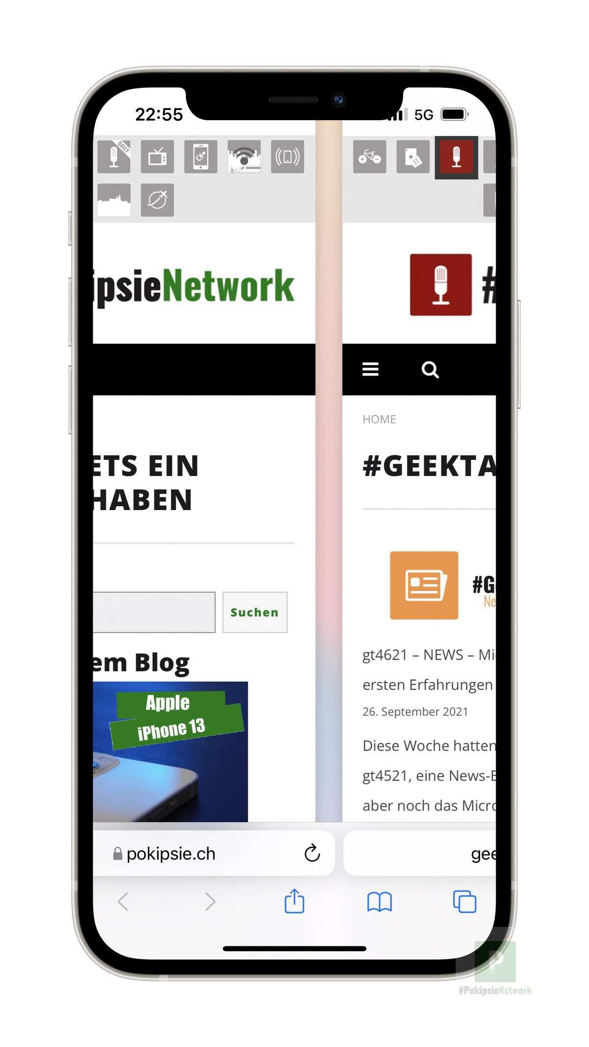 iOS 15 - Safari Tabs