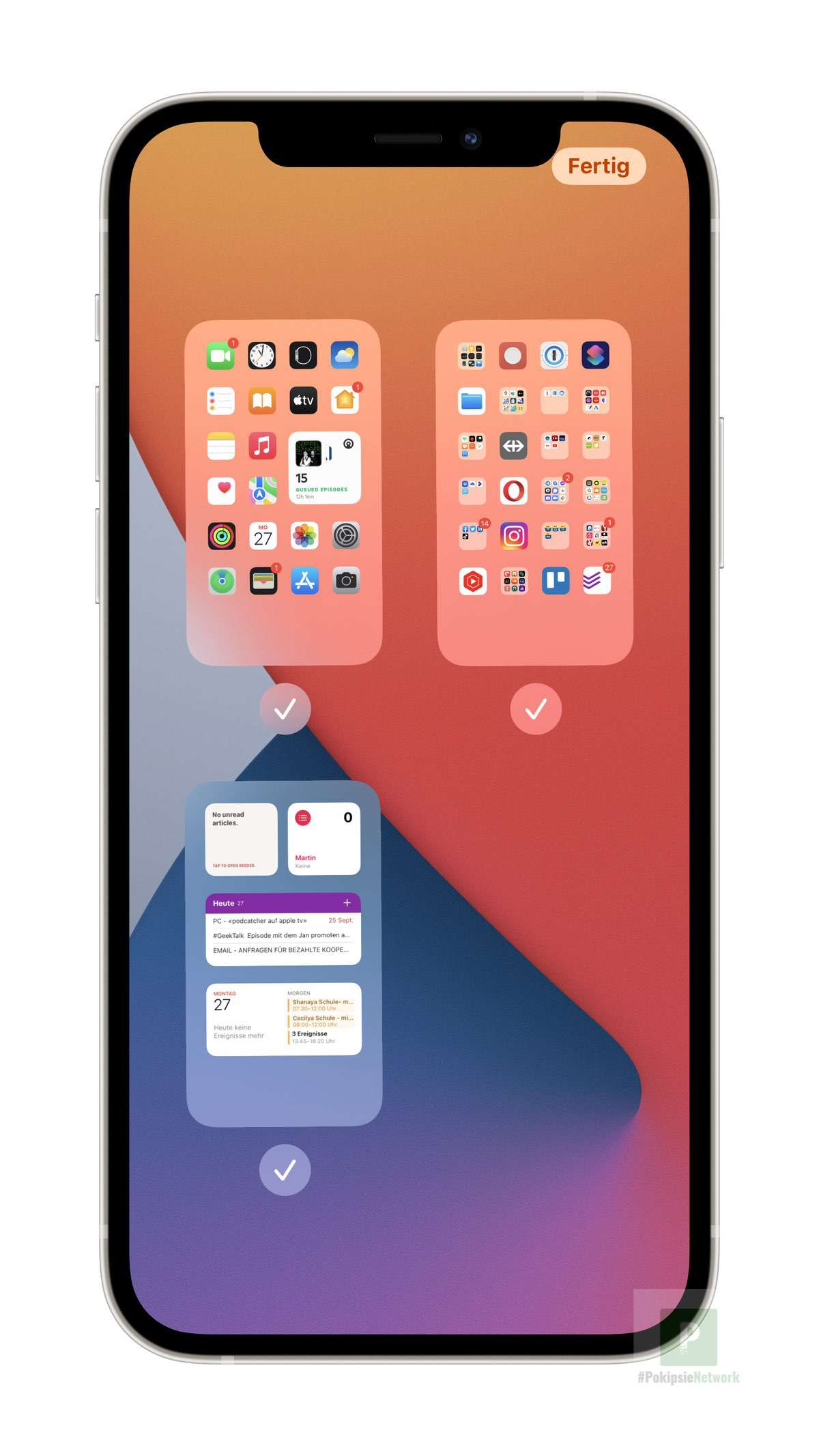 iOS 15 - Homescreens verschieben