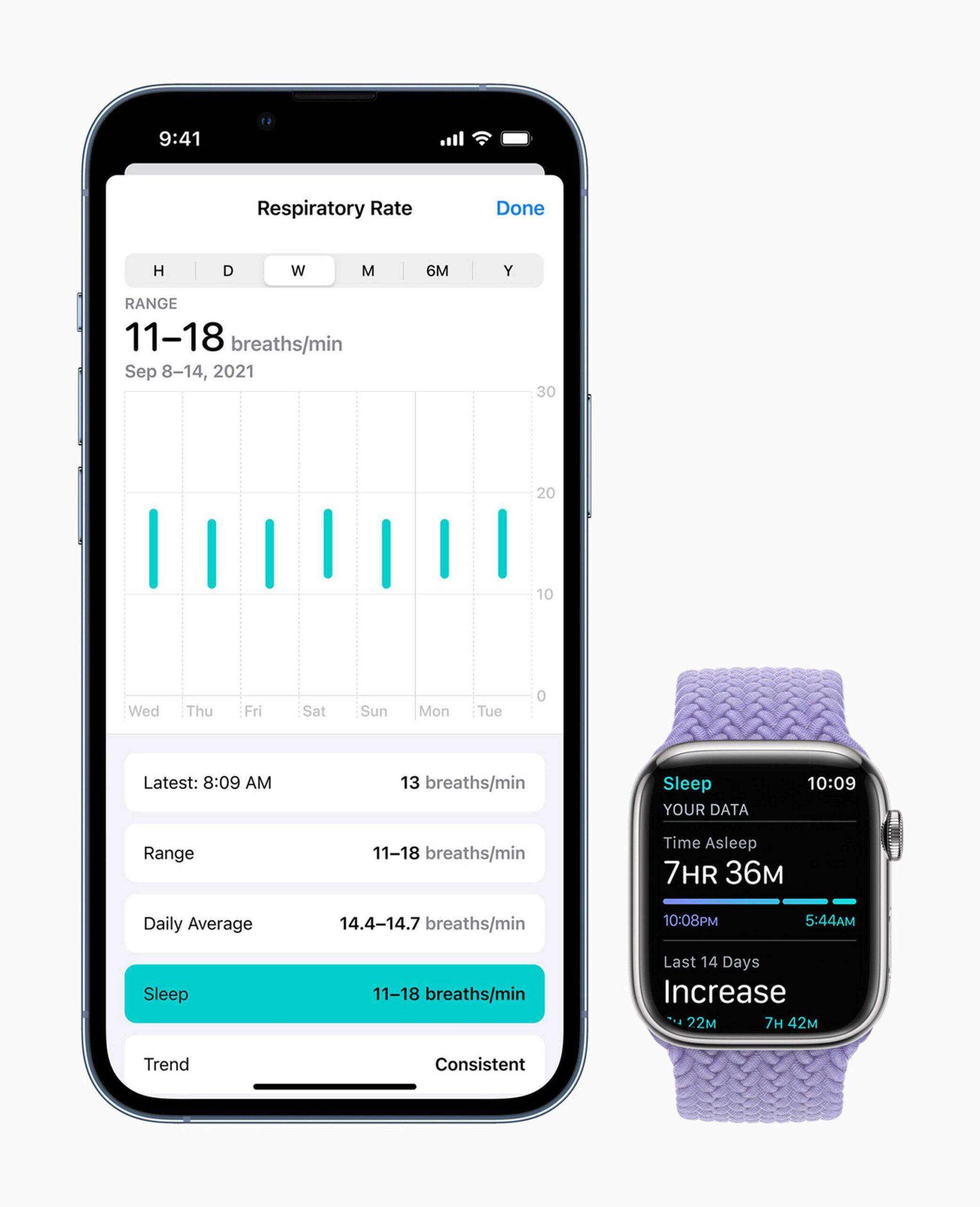 Apple - watchOS8 - Schlafen