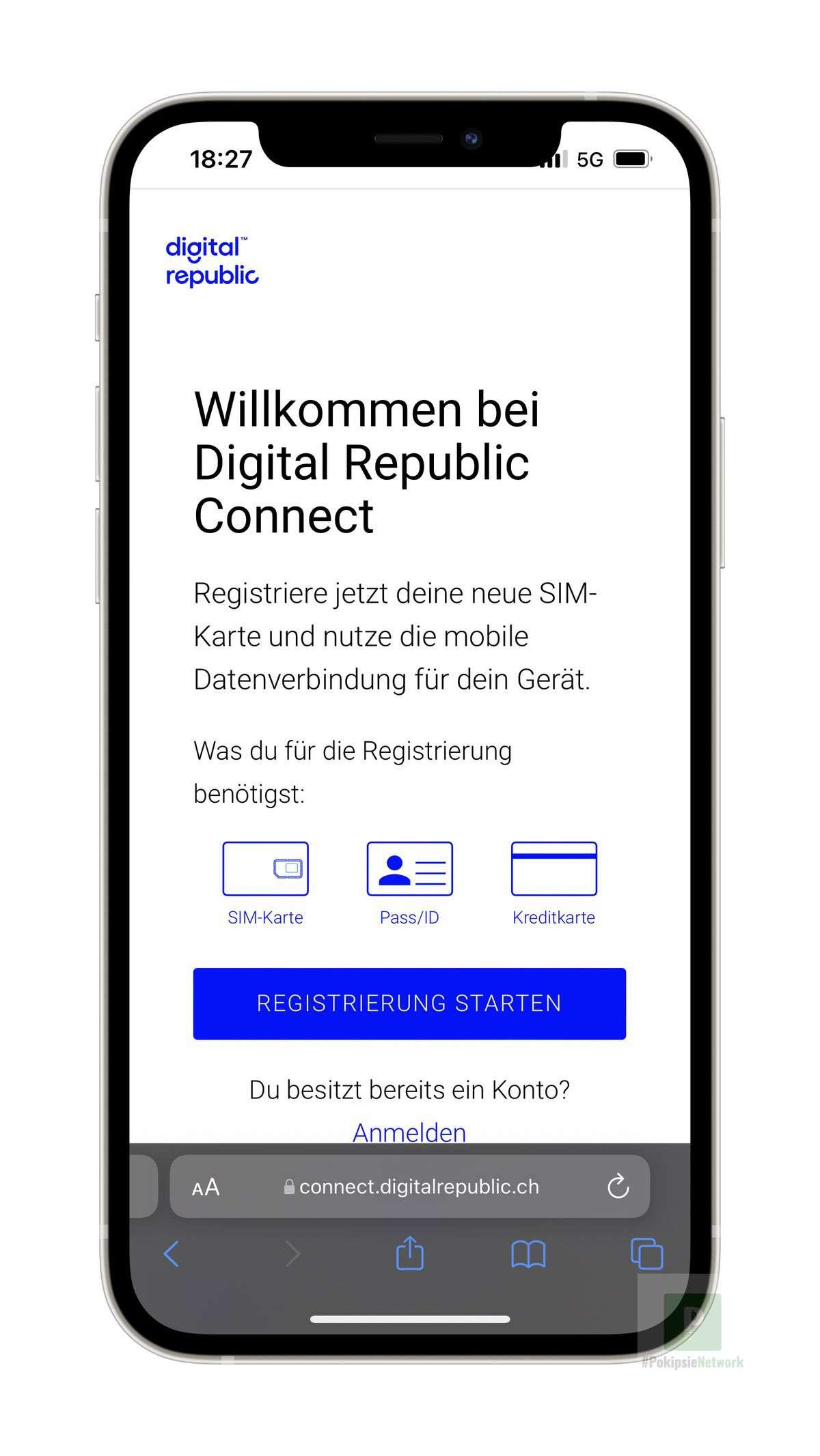 Digital Republic - Registrieren