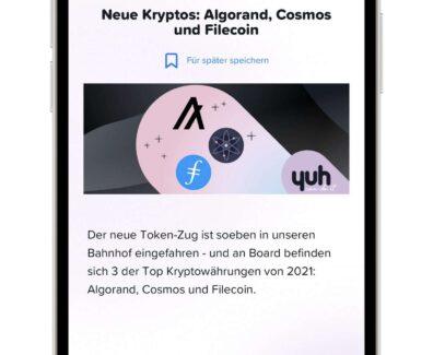 yuh – Algorand Cosmos und Filecoin