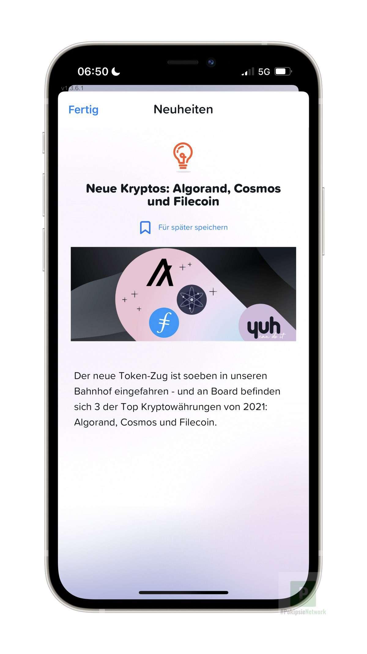 Neue Kryptos bei yuh: Algorand, Cosmos und Filecoin